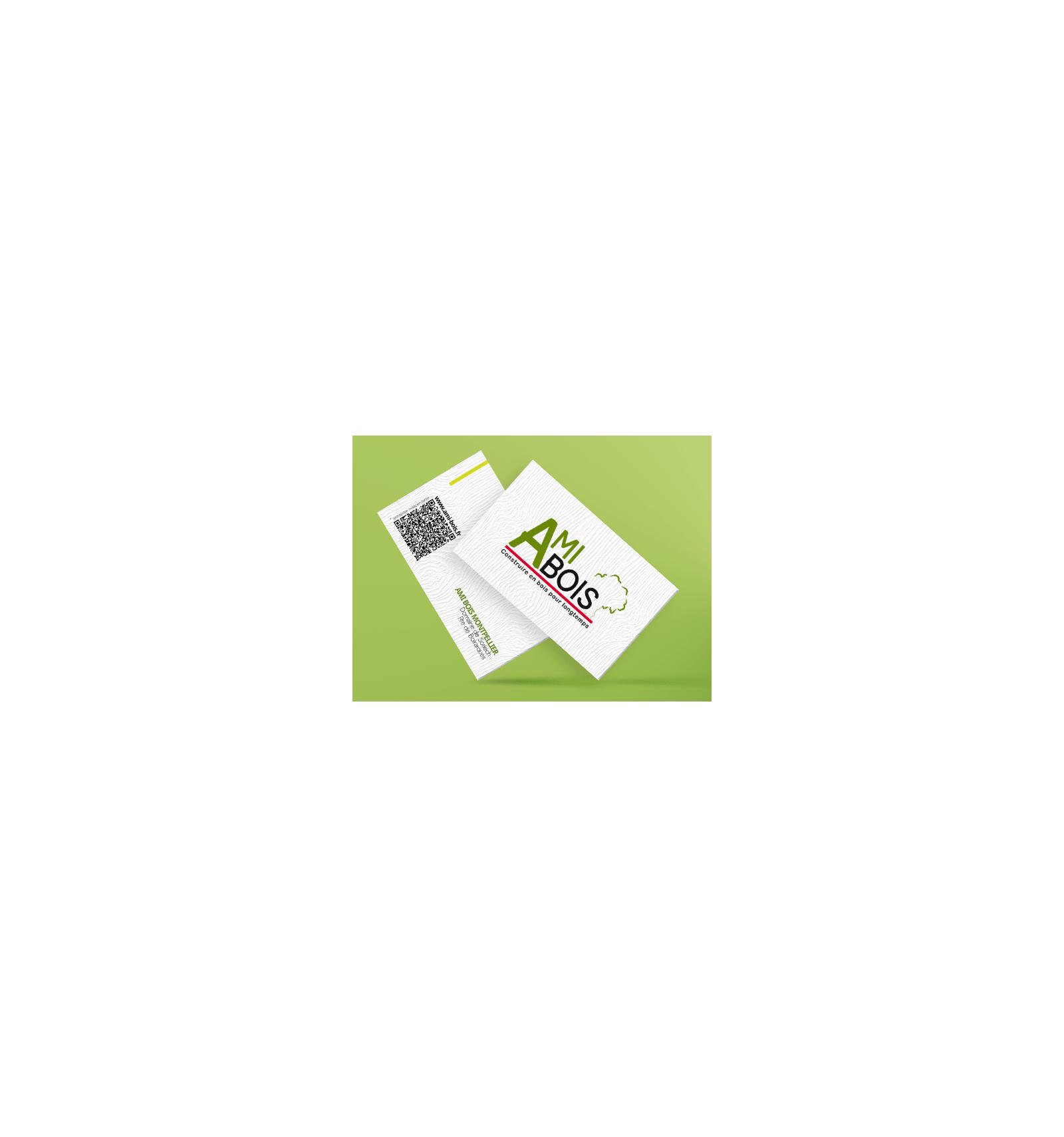 Carte De Visite Papier Effet Bois
