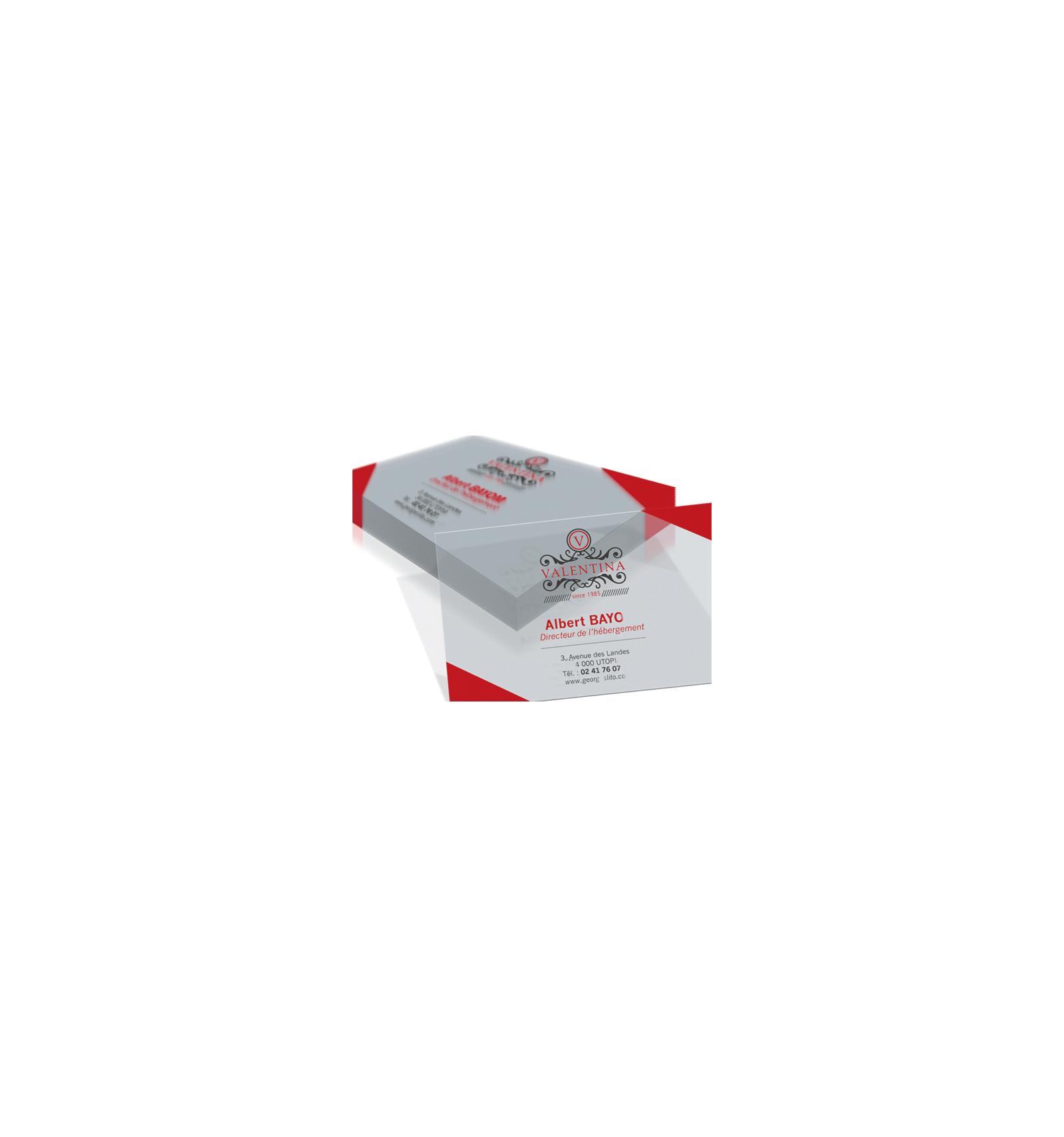 Carte PVC Calque De Visite