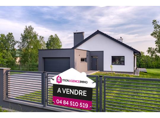 Panneau immobilier design forme maison