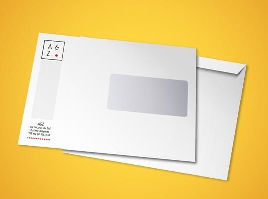 Enveloppe personnalisée C5 format 16,2x22,9 cm