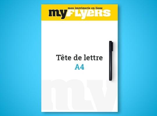 Impression en ligne tete de lettre