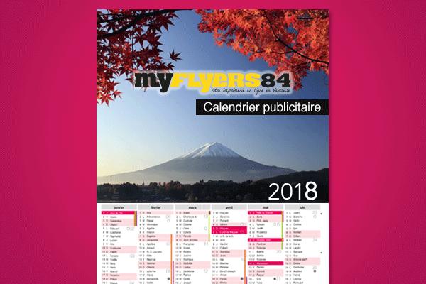 Calendrier Publicitaire Personnalise Pas Cher.Calendrier Publicitaire 2018 Le Moins Cher Des Calendriers